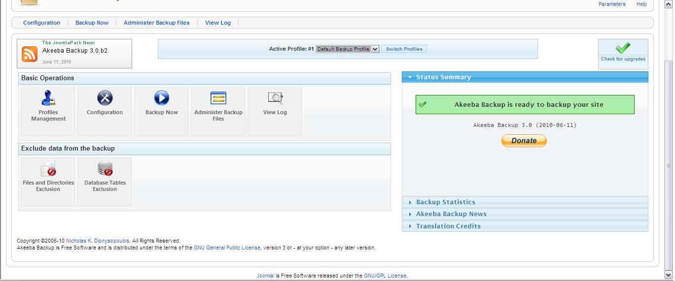 Backup Joomla 1