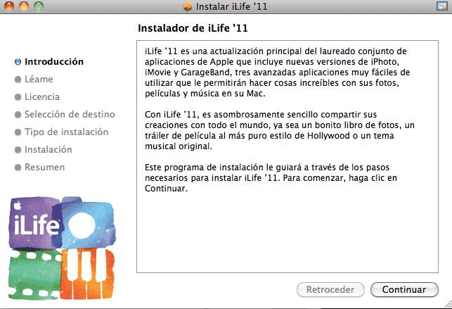 Actualización iLife09-11-1