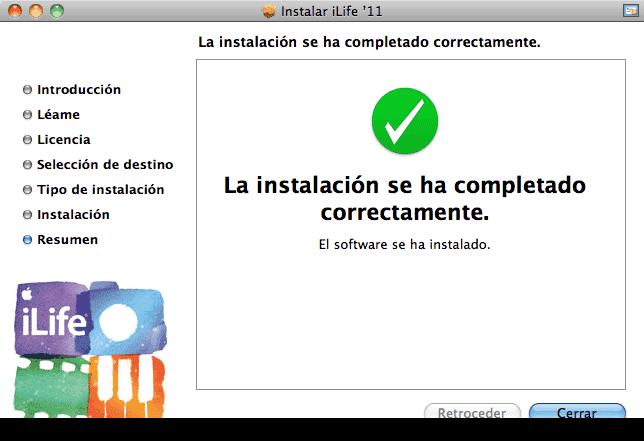 Actualización iLife09-11-9