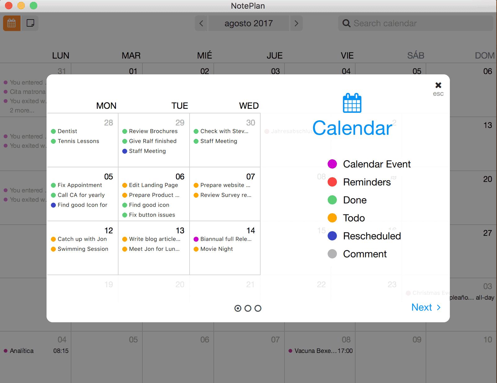 NotePlan Calendar