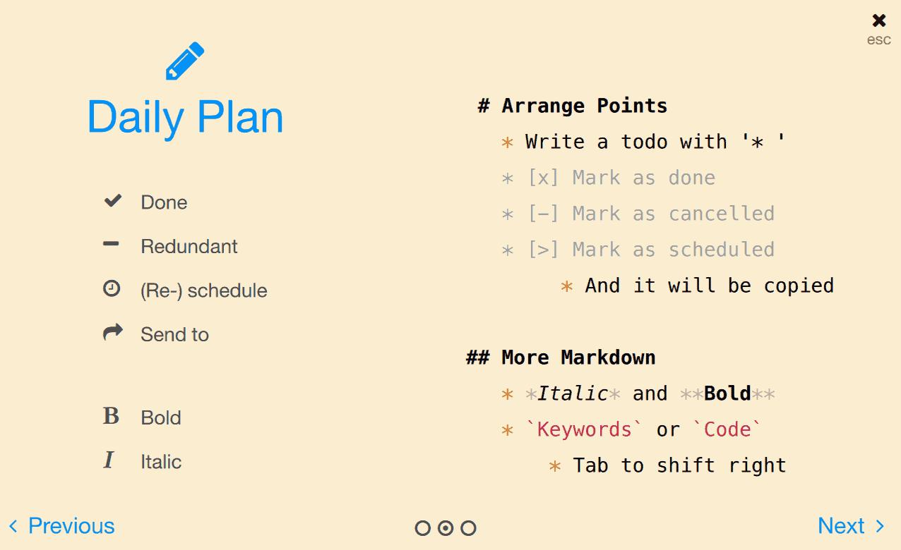 NotePlan Daily Plan