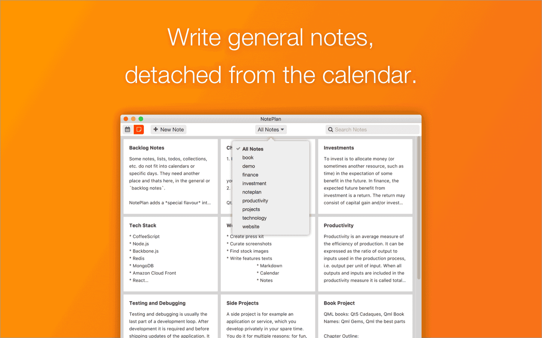 NotePlan search
