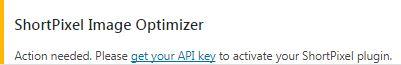 ShortPixel - Get API Key
