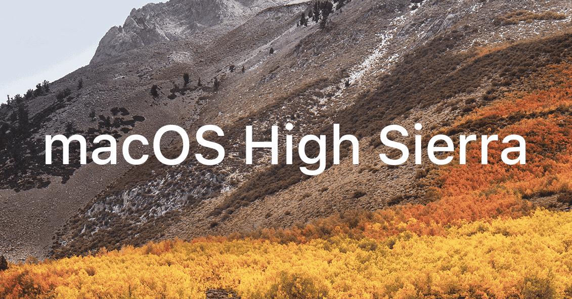 macOs High Sierra macAppStore