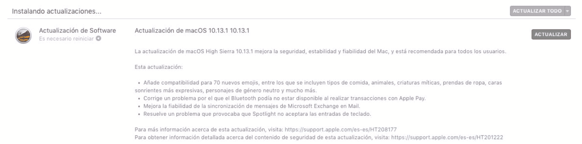 Apple publica macOS High Sierra 10.13.1