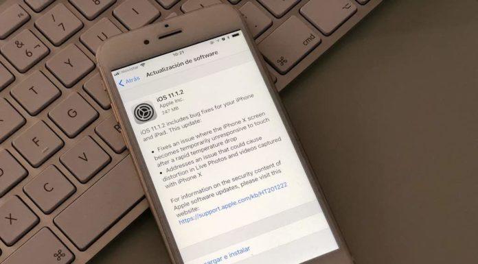 Actualización iPhone X iOS 11.1.2