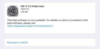 iOS 11.2.5 y tvOS 11.2.5 Beta 1