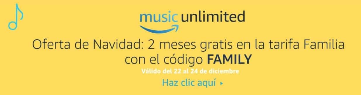 Oferta Amazon Music Unlimited navidad 2017