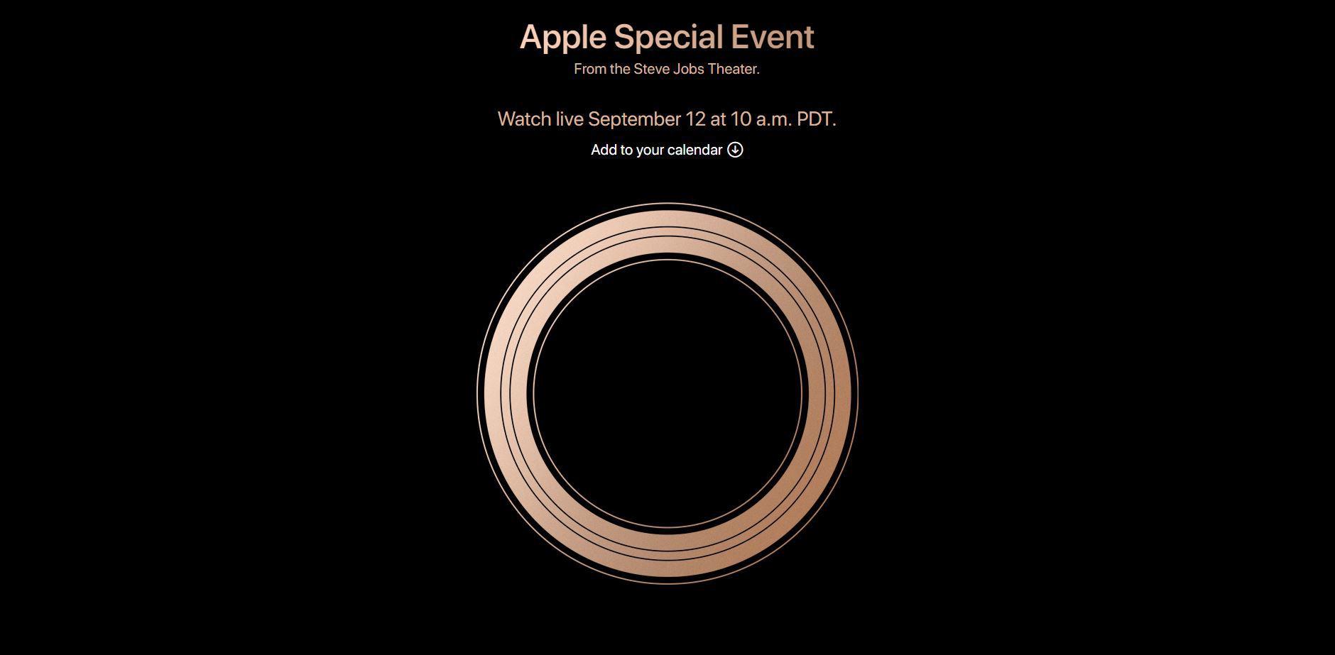 Apple Keynote 12 de septiembre 2018
